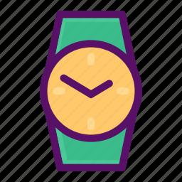 clock, keeping, time, watch, wrist icon