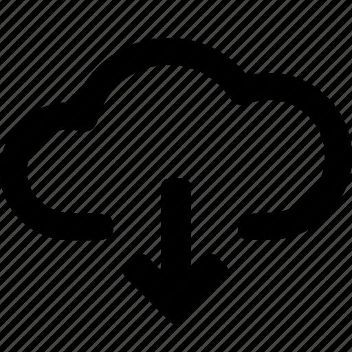 arrow, cloud, data, direction, down, download, storage icon