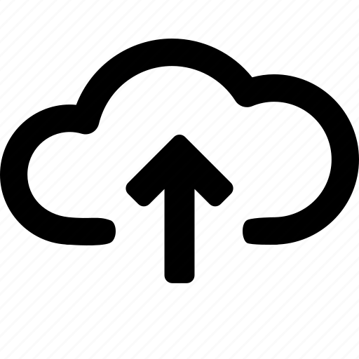 arrow, cloud, data, direction, storage, up, upload icon