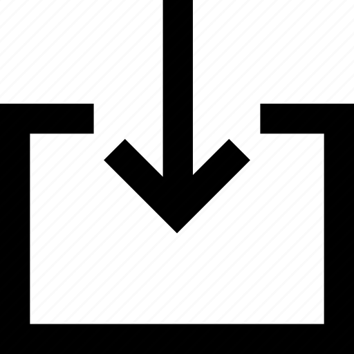 arrow, data, direction, down, download icon