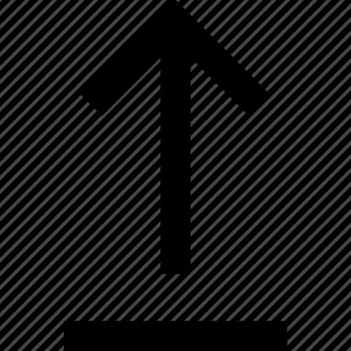 arrow, data, direction, storage, up, upload, uploading icon