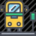bus, stop, traffic, transport, transportation icon