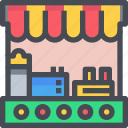 cooking, food, restaurant, stalls, store icon