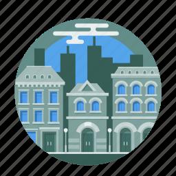 architecture, building, city, construction, house, metropolis, street icon