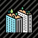 tree, gardening, skyscraper, roof, urban, business