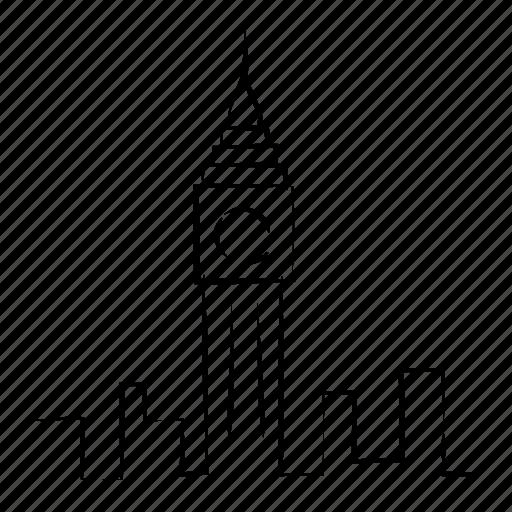 architectural site, architecture, hand drawn, monument, skyline icon