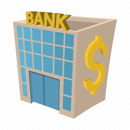 architecture, bank, building, cartoon, finance, investment, modern icon