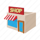 architecture, building, cartoon, facade, house, shop, store icon