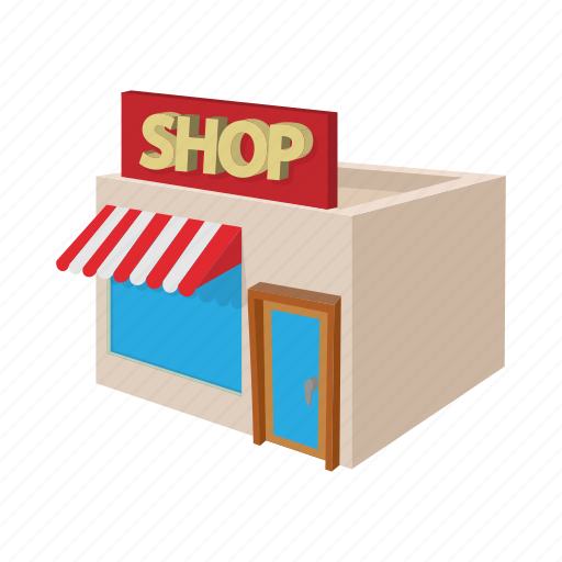 architecture, building, cartoon, facade, house, shop, store icon