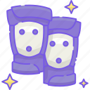 knee, pads, protection, safety icon
