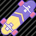 longboard, skate, skateboard icon
