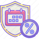 calendar, cost, monthly, rates icon