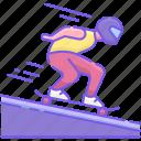 race, skateboarding, sports icon