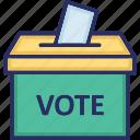 ballot, elections, referendum, vote cast, voting icon
