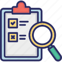 file review, list review, result review, voting, voting inspection icon