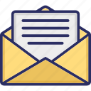 business document, cv, document in envelope, email, online massage icon