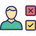 ballot paper, candidate choice, candidate option, candidate selection, choosing symbols icon