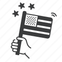 flag, usa, us, america, waving, election icon