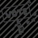 campaign, us, presedential, vote, election icon