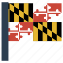 american, flag, maryland, state, us icon