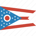 american, flag, ohio, rectangular, state icon