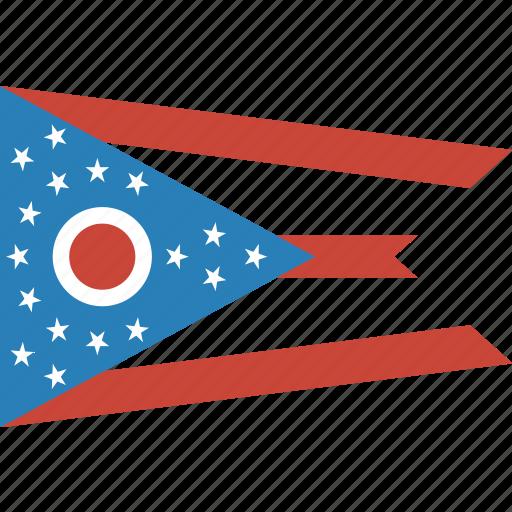 american, flag, ohio, rectangular, state icon