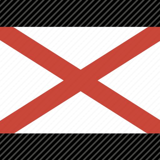 alabama, american, flag, rectangular, state icon