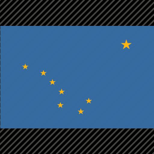 alaska, american, flag, rectangular, state icon