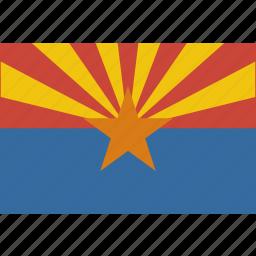 american, arizona, flag, rectangular, state icon