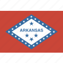 american, arkansas, flag, rectangular, state icon