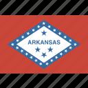american, arkansas, flag, state icon
