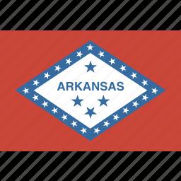 american, arkansas, flag, rectangular, state icon