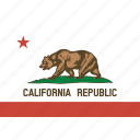 american, california, flag, rectangular, state icon
