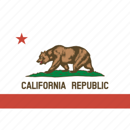 american, california, flag, rectangular, state icon