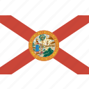 american, flag, florida, rectangular, state icon