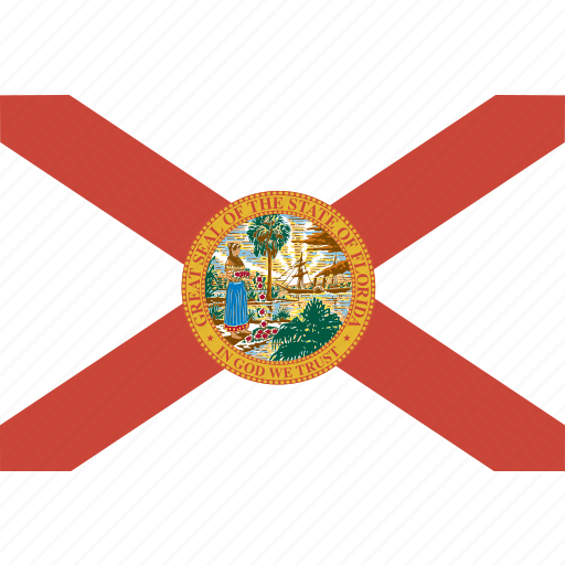 american, flag, florida, rectangular, state icon