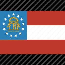 american, flag, georgia, rectangular, state icon