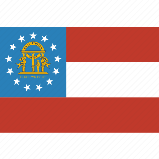 american, flag, georgia, rectangular, state icon