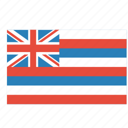 american, flag, hawaii, rectangular, state icon