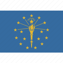 american, flag, indiana, rectangular, state icon