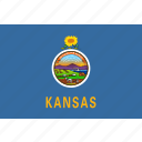 american, flag, kansas, rectangular, state icon
