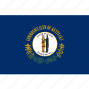 american, flag, kentucky, rectangular, state icon