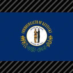 american, flag, kentucky, rectangular, state icon