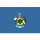 american, flag, maine, rectangular, state icon