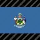 american, flag, maine, rectangular, state icon