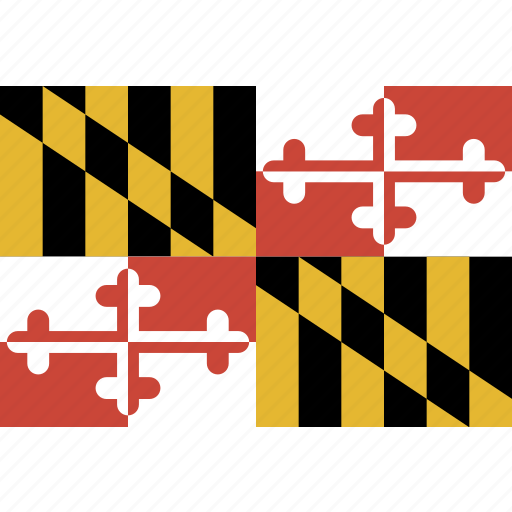 american, flag, maryland, rectangular, state icon