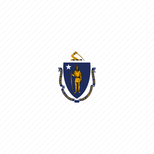american, flag, massachusetts, rectangular, state icon