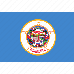 american, flag, minnesota, rectangular, state icon