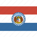 american, flag, missouri, rectangular, state icon
