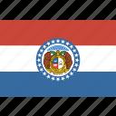 american, flag, missouri, rectangular, state icon